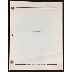 A Fighting Choice (Disney Productions 1985) - Original Production Used Script