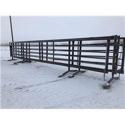 30' Free standing Panels w/ 10' gates - 2 Total *Sold as One Lot*