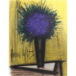 Bernard Buffet, Purple Flower, Lithograph