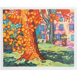 Guy Charon, Backyard Tree, Lithograph