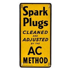 AC Spark Plugs Cleaned & Adjusted Tin Sign
