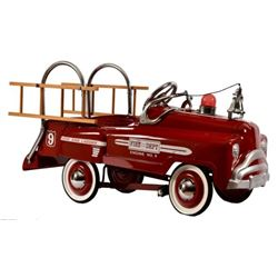 Engine No. 9 Ladder Truck Pedal Car Firetruck
