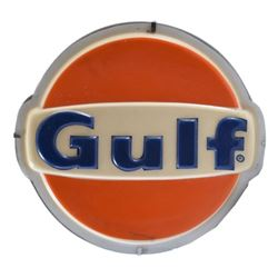 Gulf Lighted Gas Station Sign