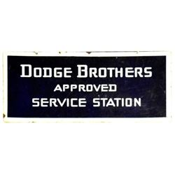 Dodge Brothers Service Station Porcelain Sign
