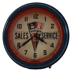 Hudson Sales & Service Neon Clock