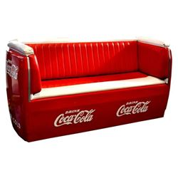Large Coca-Cola booth seat