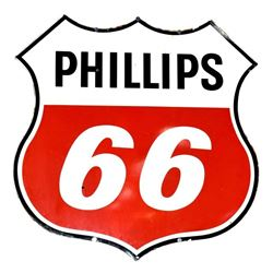 Large Phillips 66 Porcelain Service Station Sign