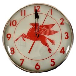 Mobil Pegasus Advertising Clock