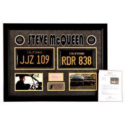 """Steve McQueen Autograph & """"Bullitt"""" Prop Plates"""