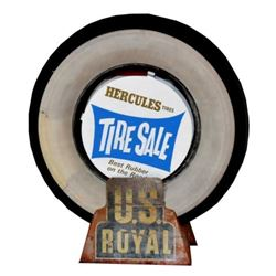 U.S. Royal Advertising Tire Display