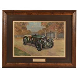 """Black Label Bentley"" Lithograph by Gerald Coulson"