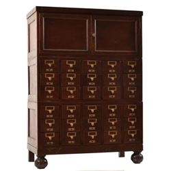 Card Catalog Cabinet
