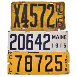 1915 License Plates