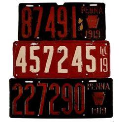 1919 License Plates