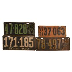 1921-1923 License Plates