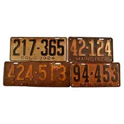 1924 License Plates