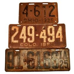 1925 License Plates.