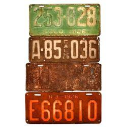 1926 License Plates