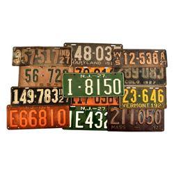 1927 License Plates