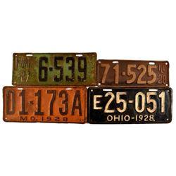 1928 License Plates