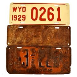 1929 License Plates