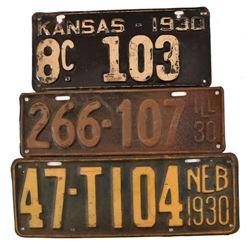 1930 License Plates