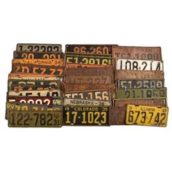 Collection of 1931-1940 License Plates