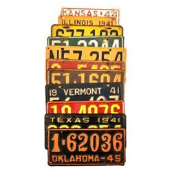 Collection of WWII Era License Plates 1941-45