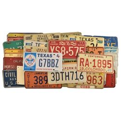 Large Collection of 1970-1980's License Plates