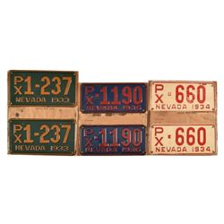 Collection of 1930's Un-issued License Plates.