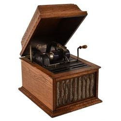 Edison Phonograph with Cylinders