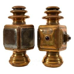 Antique Dietz  Brass Automobile Lanterns (2)