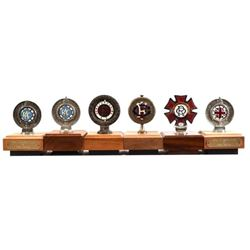 Collection of (6) Automotive Club Hood Ornaments