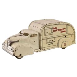 Marx City Sanitation Lithographed Tin Toy Truck