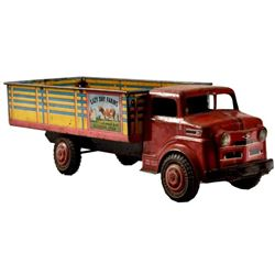 Marx Lazy Day Farms Litho Tin Toy Truck