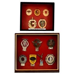 Collection of British Motor Club Hood Badges.