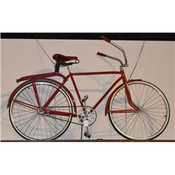 Antique Red Bicycle