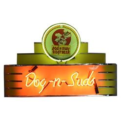 Dogs-N-Suds Rootbeer Neon Sign