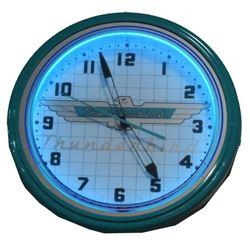 Thunderbird Neon Clock
