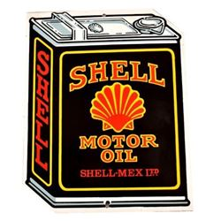 Shell-Mex Motor Oil Can Porcelain Sign