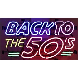 Back to The 50s Neon Sign