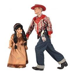 Cowboy & Indian Child's Size Mannequins