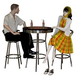 Coca Cola Table, Barstools, & Mannequins