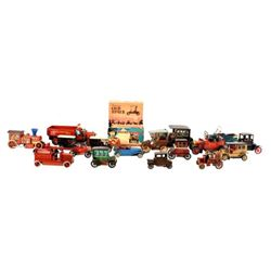 Collection of Vintage Tin Cars