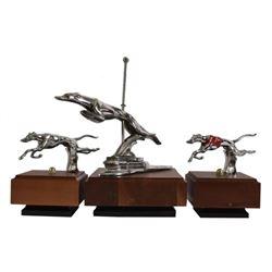 3 Desmo Greyhound Hood Ornaments