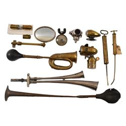 Collection of Vintage Brass Automotive Parts