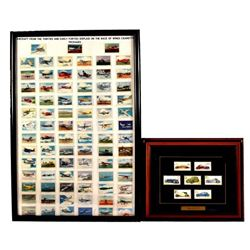 Collection of Car & Airplane Cigarette Cards