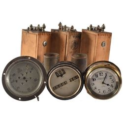 Collection of Vintage Gauges and Thermostats.