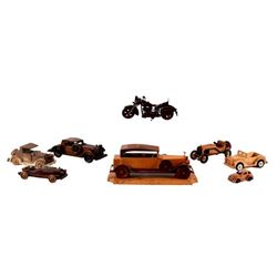Collection of  Wood Car & Airplane Models.