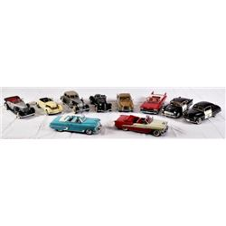 Collection of Danbury & Franklin Mint Cars.
